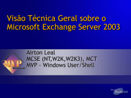 Visão Técnica Geral sobre o Microsoft Exchange