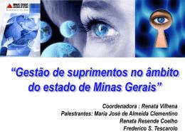 Gestão de Suprimentos no âmbito do Estado de Minas Gerais