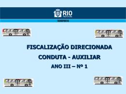 (novembro, dezembro de 2011 e janeiro de 2012) conduta