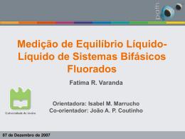 Thesis presentation - Universidade de Aveiro