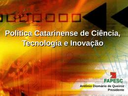 Slide 1 - Fapesc