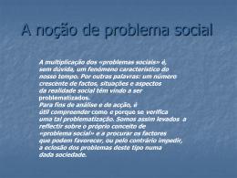 A noção de problema social (1) - georisk
