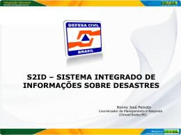 16h30 - Sistema Integrado de Informações sobre Desastres e o