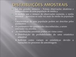 DISTRIBUIÇÕES AMOSTRAIS