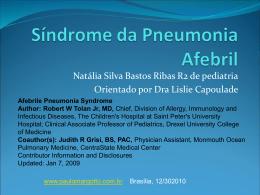 Síndrome da pneumonia afebril