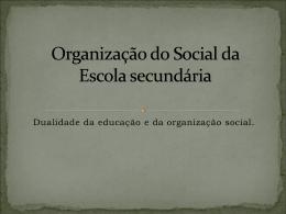 Organização_do_Social_da_Escola_secundária