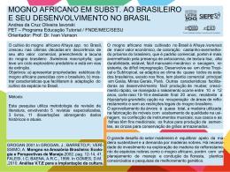 MOGNO AFRICANO EM SUBST. AO BRASILEIRO E SEU