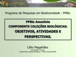 COMPONENTE COLEÇÕES BIOLÓGICAS