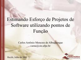 Estimando Esforço de Projetos de Software