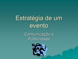 Estratégia de um evento
