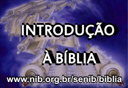 no mínimo 3 bíblias - Nova Igreja Batista