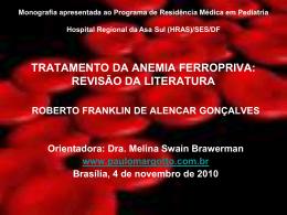 Monografia-2010(HRAS): Tratamento da