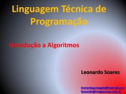 Linguagem Técnica de Programação