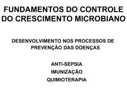 fundamentos do controle do crescimento microbiano