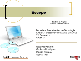 Escopo (PRONTO)