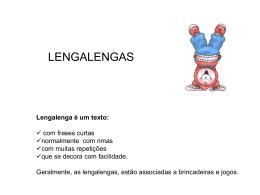 Lengalenga é um texto