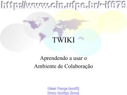 "Subject: ""Cadastro Twiki"""