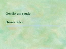 Gestão em saúde Bruno Silva