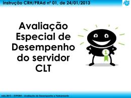 Instrução CRH/PRAd nº 01, de 24/01/2013 Avaliação