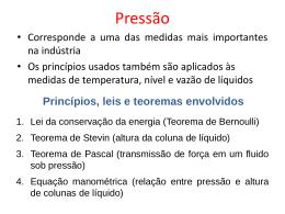 Pressão - Sistemas EEL