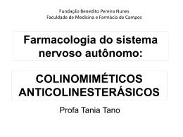 Farmacologia do sistema nervoso autônomo: