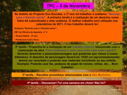 TPC 5 novembro - Blogue da turma 8 – Fonte Joana