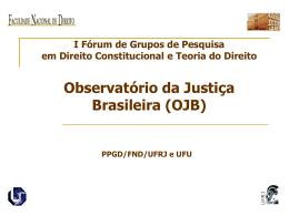 I Seminário de Pesquisa PPGD - Direito Constitucional e Teoria do