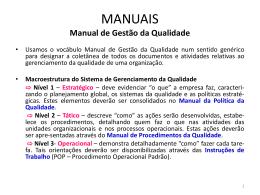 Manuais - Manual de Gestão da Qualidade.