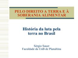 História da luta pela terra no Brasil