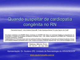 Quando suspeitar de cardiopatia congênita no RN