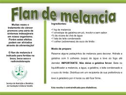 Flan de melancia