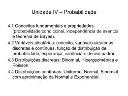 Unidade V – Probabilidade