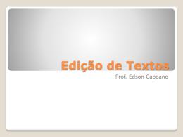 Edição de Textos