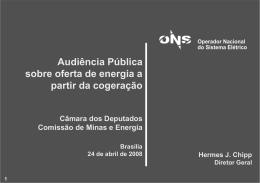 apresentação - Câmara dos Deputados