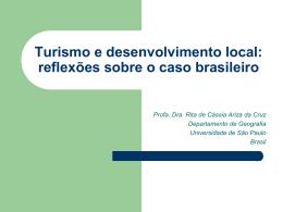 Turismo Base Comunitária - Departamento de Geografia