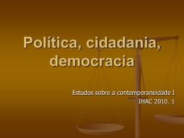 Política, cidadania, democracia - Arte interativa