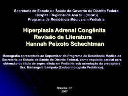 Hiperplasia Adrenal Congênita: Revisão de Literatura