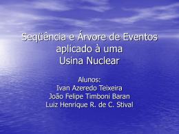 Seqüência e Árvore de Eventos aplicado à uma Usina Nuclear