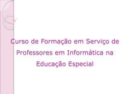 Curso de Formação em Serviço de Professores em