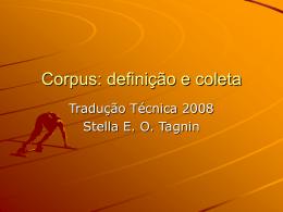 Corpus: definição e coleta