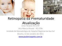 Retinopatia da Prematuridade-Atualização