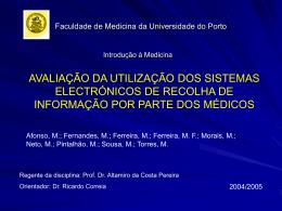 3ª apresentação - Medicina
