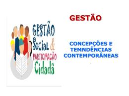 GESTÃO SOCIAL - Universidade Castelo Branco