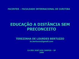 AUTOR: TEREZINHA DE LOURDES BERTUZZO