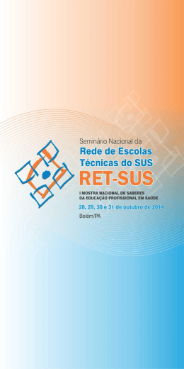 Currículo Básico da Educação em Saúde na ETSUS/Unimontes