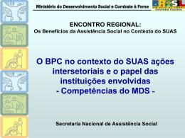 Ministério do Desenvolvimento Social e Combate à Fome Gestão da
