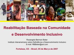Reabilitação Baseada na Comunidade e Desenvolvimento