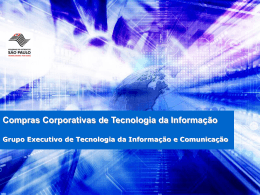 Planejamento Estratégico - TIC - Governo do Estado de São Paulo