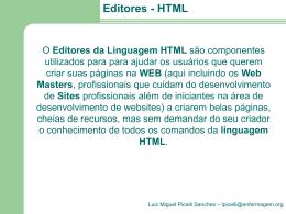 Editores da Linguagem HTML