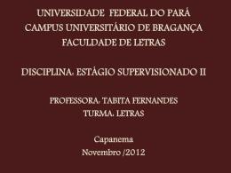 (slide) – Profª Tabita Fernandes - Aedi